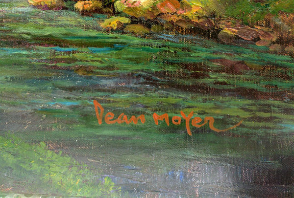 Late Summer's Golf by Dean Moyer, Signature