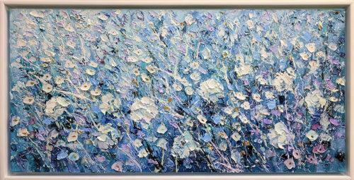 Silver Flowers II by Konstantin Savchenko - Framed
