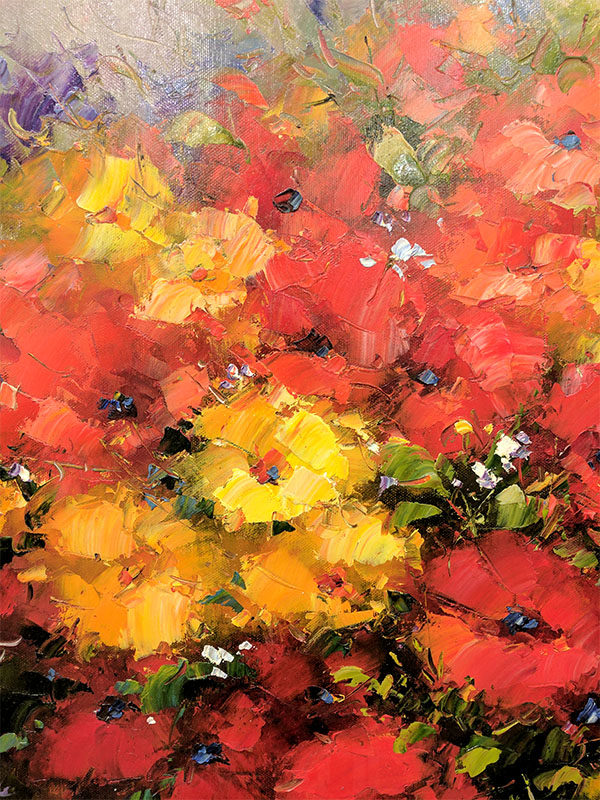 Summer Bouquet by Schroter, Detail