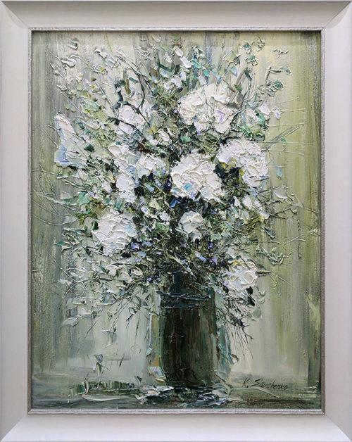 White Floral Bouquet II by Konstantin Savchenko