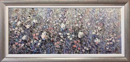 White Flowers by Konstantin Savchenko, Framed