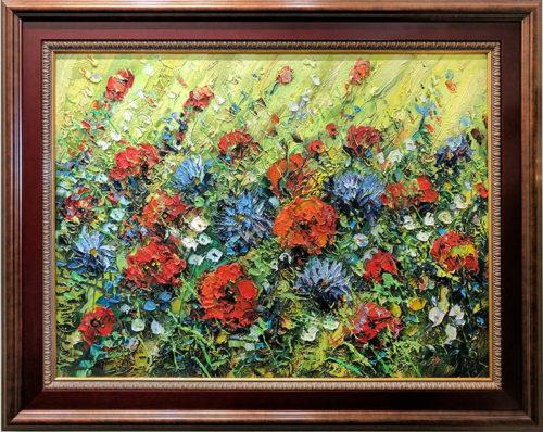 Wild Flowers II, Framed by Konstantin Savchenko