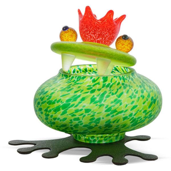 Green Glass Frog Bowl