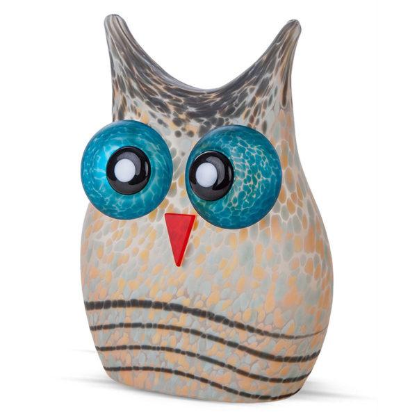 Grey Glass Owl