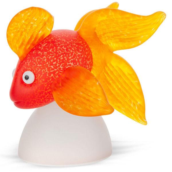 Orange and Yellow Glass Fish