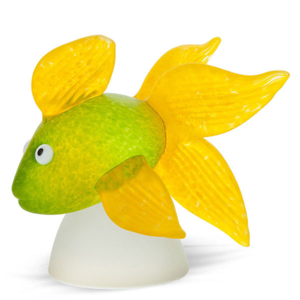 Green and Yellow Glass Fish