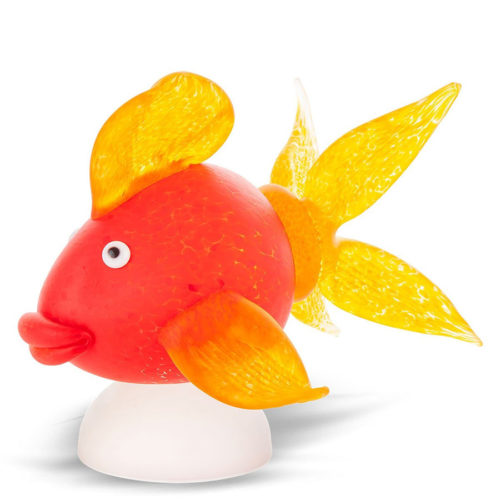 Red and Yellow Goldfish Glass