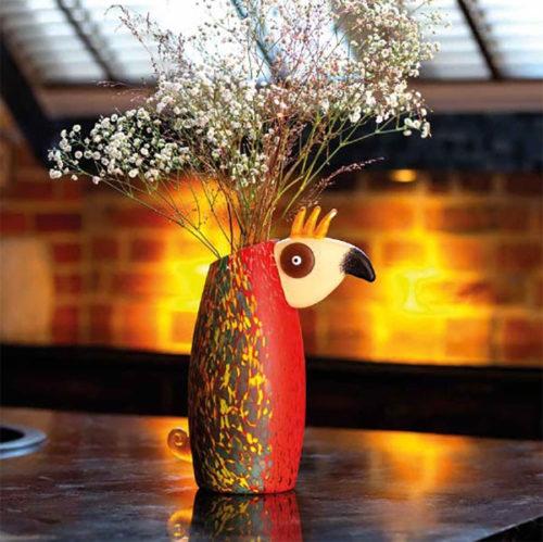 Glass Bird Vase