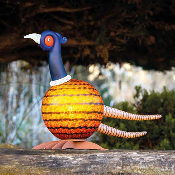 Yellow and Blue Glass Quail