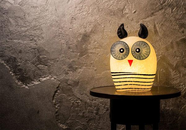 Glass Owl Lamp