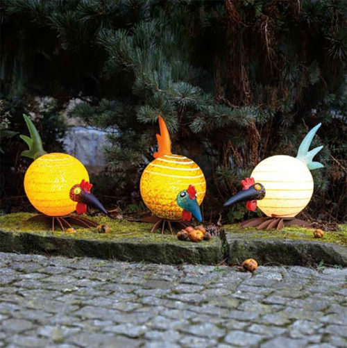 Colorful Glass Bird Lamps