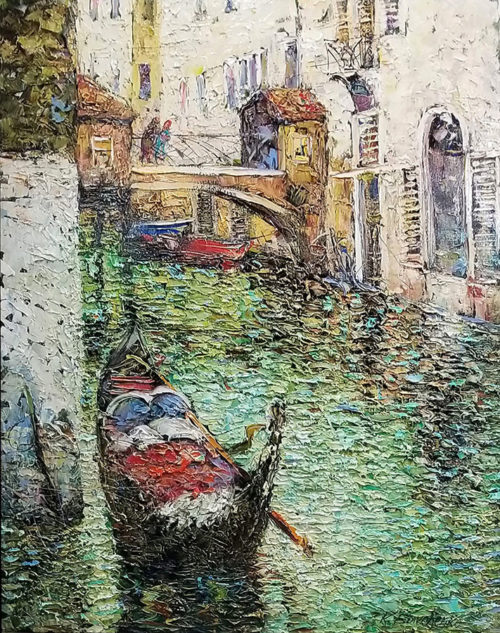 """Venetian Canal"" by Konstantin Savchenko at Art Leaders Gallery, voted ""Michigan's Best Fine Art Gallery"" is located in the heart of West Bloomfield. This full service fine art gallery is the destination for all your art and custom picture framing needs. Our extensive inventory of art includes styles ranging from contemporary to traditional. The gallery represents international, national, and emerging new talent as well as local Michigan artists."