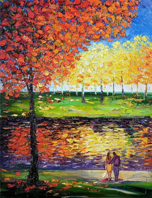 """Afternoon in the Park VI"" by Konstantin Savchenko at Art Leaders Gallery, voted ""Michigan's Best Fine Art Gallery"" is located in the heart of West Bloomfield. This full service fine art gallery is the destination for all your art and custom picture framing needs. Our extensive inventory of art includes styles ranging from contemporary to traditional. The gallery represents international, national, and emerging new talent as well as local Michigan artists."