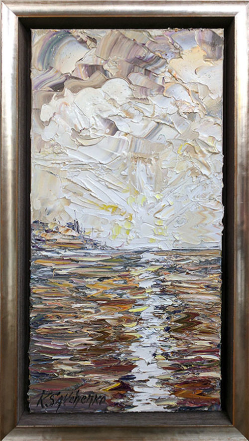 """Sea Evening"" by Konstantin Savchenko at Art Leaders Gallery, voted ""Michigan's Best Fine Art Gallery"" is located in the heart of West Bloomfield. This full service fine art gallery is the destination for all your art and custom picture framing needs. Our extensive inventory of art includes styles ranging from contemporary to traditional. The gallery represents international, national, and emerging new talent as well as local Michigan artists."