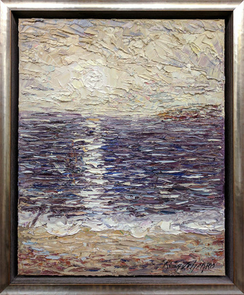 Ocean Reflections II, Framed