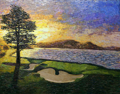 18th Hole at Pebble Beach by Konstantin Savchenko
