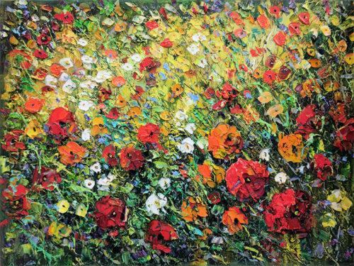 Poppies in the Field II by Konstantin Savchenko