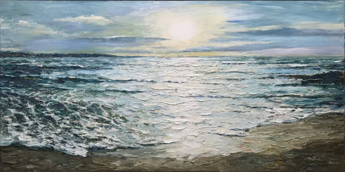 """Summer Sunset"" by Andrii Afanasiev Art Leaders Gallery, voted ""Michigan's Best Fine Art Gallery"" is located in the heart of West Bloomfield. This full service fine art gallery is the destination for all your art and custom picture framing needs. Our extensive inventory of art includes styles ranging from contemporary to traditional. The gallery represents international, national and emerging new talent as well as local Michigan artists."