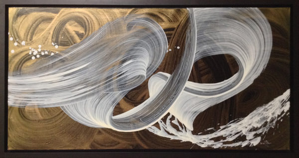 White Cascade VII by Antontio Velfin, Framed