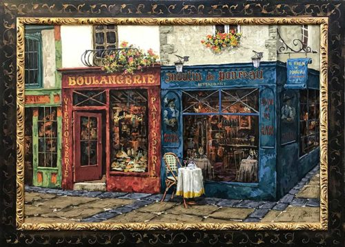 Storefront in Paris Oil Painting