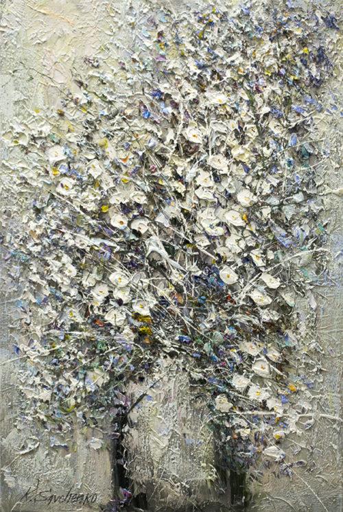 Silver Flowers by Konstantin Savchenko