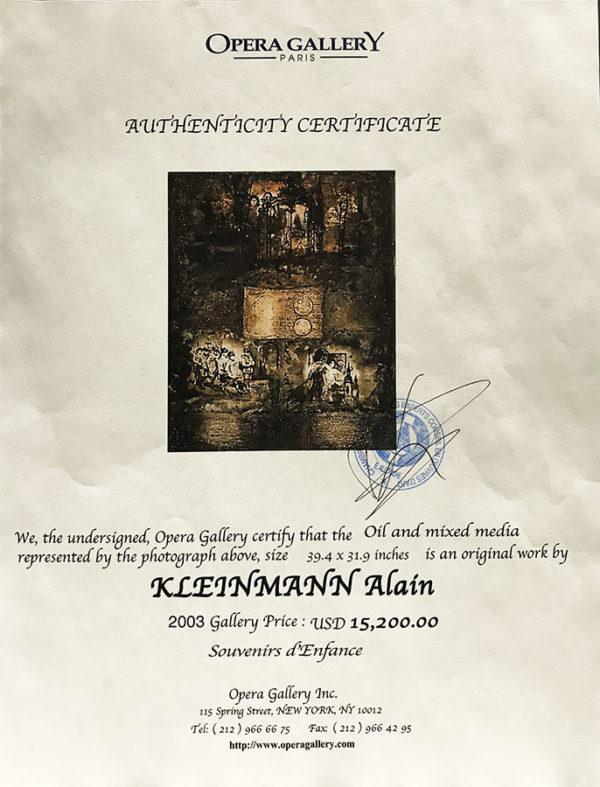 "Alain Kleinmann, ""Souvenirs d'Enfance"" Framed"