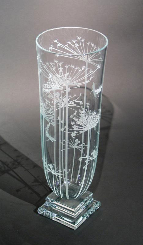 Queen Anne's Lace Vase by Stephen Schlanser at Art Leaders Gallery - Michigan's Finest Art Gallery