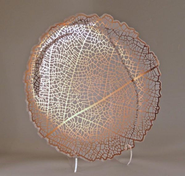 Shady Leaf Tray by Stephen Schlanser at Art Leaders Gallery - Michigan's Finest Art Gallery