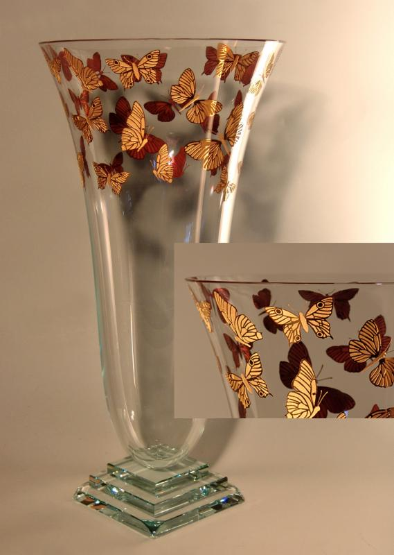 "Mariposa Vase in Gold, 24"" by Stephen Schlanser"