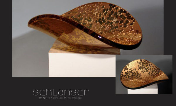 Queen Anne's Lace Vessel in Gold, by Stephen Schlanser