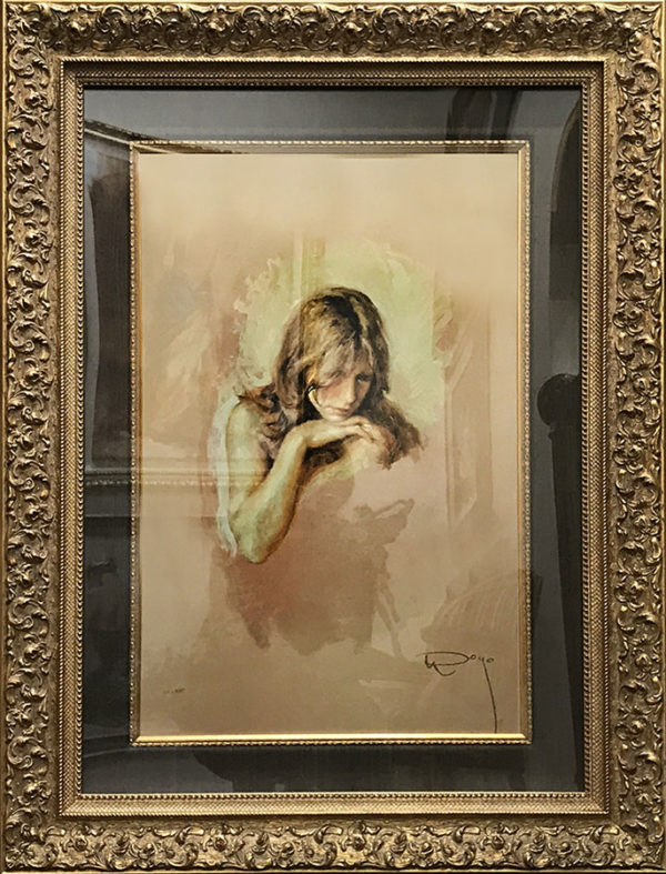"""Pensativa by Jose Royo at Art Leaders Gallery, voted """"Michigan's Best Fine Art Gallery"""" is located in the heart of West Bloomfield. This full service fine art gallery is the destination for all your art and custom picture framing needs. Our extensive inventory of art includes styles ranging from contemporary to traditional. The gallery represents international, national and emerging new talent as well as local Michigan artists."""