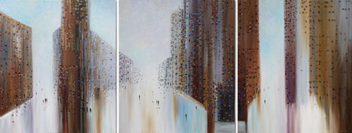 Big City of Dreams Triptych by Ekaterina Ermilkina at Art Leaders Gallery - Michigan's Finest Art Gallery