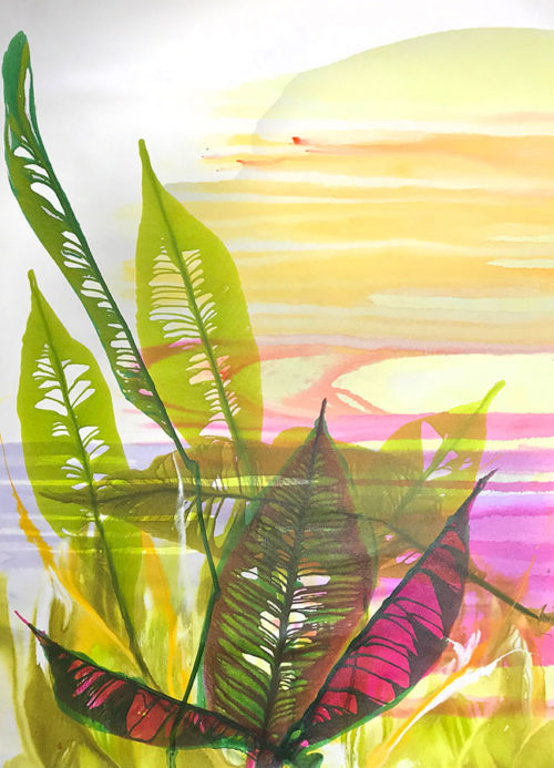 """Tropic Sunset by Antonio Molinari at Art Leaders Gallery, voted """"Michigan's Best Fine Art Gallery"""" is located in the heart of West Bloomfield. This full service fine art gallery is the destination for all your art and custom picture framing needs. Our extensive inventory of art includes styles ranging from contemporary to traditional. The gallery represents international, national, and emerging new talent as well as local Michigan artists."""