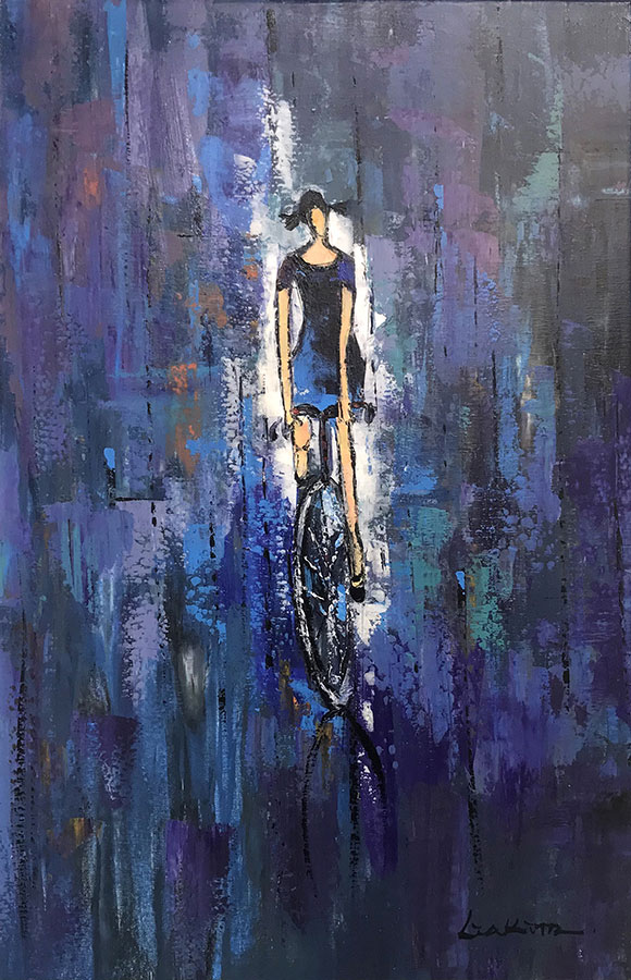 "Afternoon Bike Ride by Lia Kim at Art Leaders Gallery, voted ""Michigan's Best Fine Art Gallery"" is located in the heart of West Bloomfield. This full service fine art gallery is the destination for all your art and custom picture framing needs. Our extensive inventory of art includes styles ranging from contemporary to traditional. The gallery represents international, national, and emerging new talent as well as local Michigan artists."