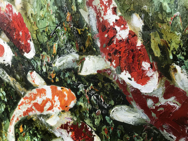 """Koi Fish I by Anastasiya Skryleva at Art Leaders Gallery, voted """"Michigan's Best Fine Art Gallery"""" is located in the heart of West Bloomfield. This full service fine art gallery is the destination for all your art and custom picture framing needs. Our extensive inventory of art includes styles ranging from contemporary to traditional. The gallery represents international, national, and emerging new talent as well as local Michigan artists."""