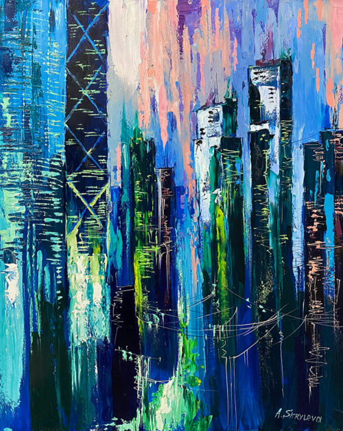 Neon City Painting