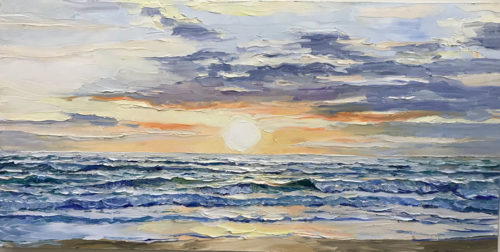 """Peaceful Sunset"" by Andrii Afanasiev Art Leaders Gallery, voted ""Michigan's Best Fine Art Gallery"" is located in the heart of West Bloomfield. This full service fine art gallery is the destination for all your art and custom picture framing needs. Our extensive inventory of art includes styles ranging from contemporary to traditional. The gallery represents international, national and emerging new talent as well as local Michigan artists."