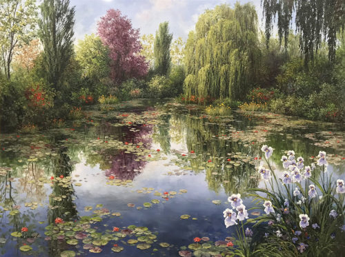 "Summer Reflections by M.S. Park at Art Leaders Gallery, voted ""Michigan's Best Fine Art Gallery"" is located in the heart of West Bloomfield. This full service fine art gallery is the destination for all your art and custom picture framing needs. Our extensive inventory of art includes styles ranging from contemporary to traditional. The gallery represents international, national and emerging new talent as well as local Michigan artists."