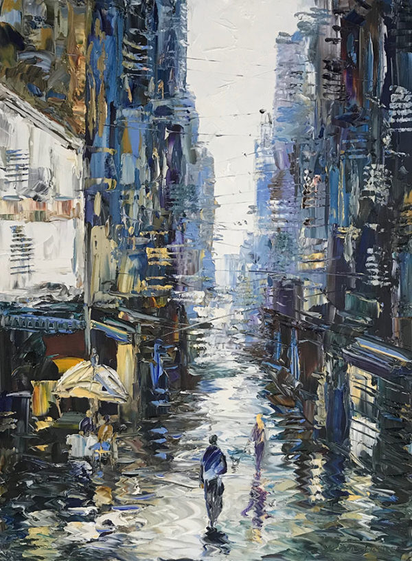 """City With You II"" by Konstantin Savchenko at Art Leaders Gallery, voted ""Michigan's Best Fine Art Gallery"" is located in the heart of West Bloomfield. This full service fine art gallery is the destination for all your art and custom picture framing needs. Our extensive inventory of art includes styles ranging from contemporary to traditional. The gallery represents international, national, and emerging new talent as well as local Michigan artists."