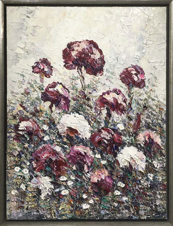 """""""Ruby Blooms"""" by Konstantin Savchenko at Art Leaders Gallery, voted """"Michigan's Best Fine Art Gallery"""" is located in the heart of West Bloomfield. This full service fine art gallery is the destination for all your art and custom picture framing needs. Our extensive inventory of art includes styles ranging from contemporary to traditional. The gallery represents international, national, and emerging new talent as well as local Michigan artists."""