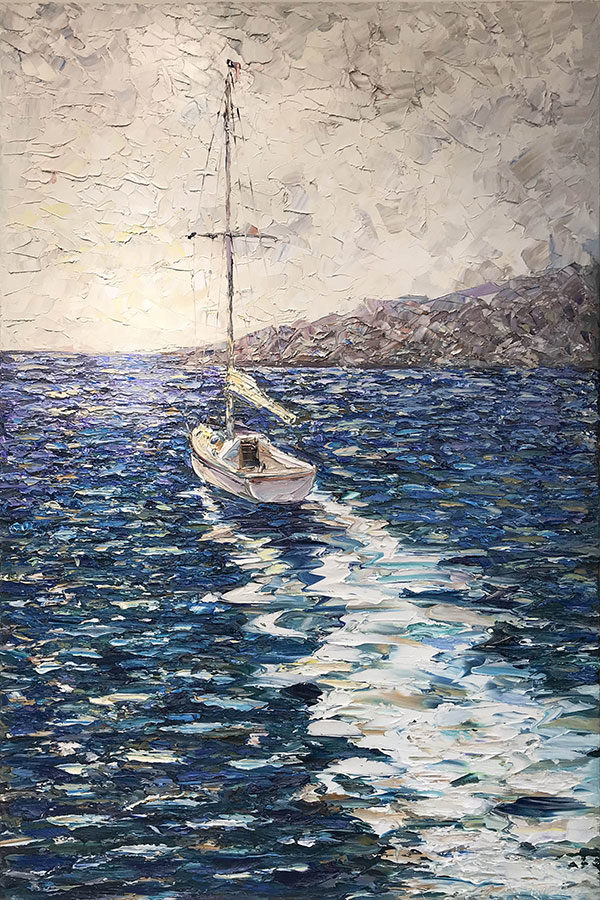 """""""Summer Sailing"""" by Konstantin Savchenko at Art Leaders Gallery, voted """"Michigan's Best Fine Art Gallery"""" is located in the heart of West Bloomfield. This full service fine art gallery is the destination for all your art and custom picture framing needs. Our extensive inventory of art includes styles ranging from contemporary to traditional. The gallery represents international, national, and emerging new talent as well as local Michigan artists."""