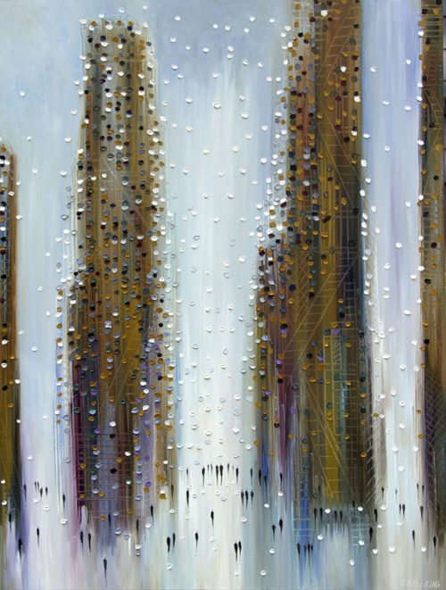 City Reflection by Ekaterina Ermilkina at Art Leaders Gallery - Michigan's Finest Art Gallery