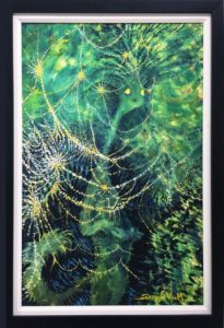Green Cat Wiith Lights Dr.Seuss Secret Art