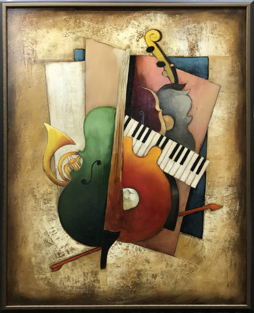 Emanuel Mattini Orchestration III, Musical Harmony Original Painting