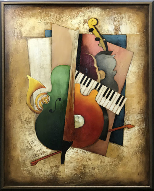 "Orchestration III, Musical Harmony by Emanuel Mattini at Art Leaders Gallery, voted ""Michigan's Best Fine Art Gallery"" is located in the heart of West Bloomfield. This full service fine art gallery is the destination for all your art and custom picture framing needs. Our extensive inventory of art includes styles ranging from contemporary to traditional. The gallery represents international, national, and emerging new talent as well as local Michigan artists."
