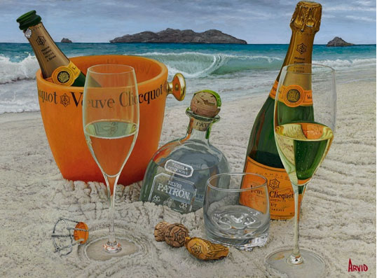 Somewhere on a Beach by Thomas Arvid at Art Leaders Gallery - Michigan's Finest Art Gallery