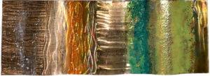 copper wavey metal sculpture art therapy