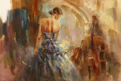 """Concerto III"" Artist Proof by Anna Razumovskaya at Art Leaders Gallery, voted ""Michigan's Best Fine Art Gallery"" is located in the heart of West Bloomfield. This full service fine art gallery is the destination for all your art and custom picture framing needs. Our extensive inventory of art includes styles ranging from contemporary to traditional. The gallery represents international, national and emerging new talent as well as local Michigan artists."