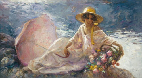 "En La Orilla by Jose Royo at Art Leaders Gallery, voted ""Michigan's Best Fine Art Gallery"" is located in the heart of West Bloomfield. This full service fine art gallery is the destination for all your art and custom picture framing needs. Our extensive inventory of art includes styles ranging from contemporary to traditional. The gallery represents international, national and emerging new talent as well as local Michigan artists."