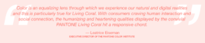 Living Coral Pantone Color of the Year Qoute